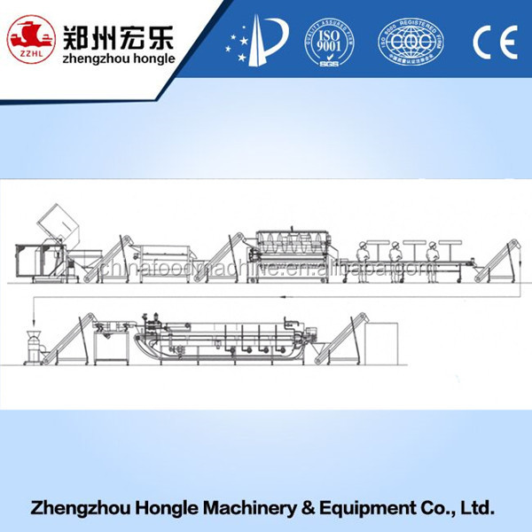 Full Automatic French Fries Machine/French Fries Production Line/Potato Chips Making Machine with freezer