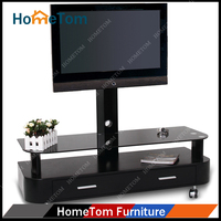 Waterproof outdoor tv stand with wheels and drawers