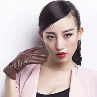 leather gloves for women, made in China, cool gloves
