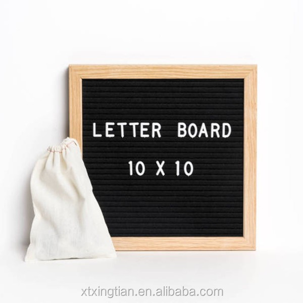 menu boards Slotted Felt Letter Board for wholesale,Felt letter board with many felt color, Changeable black felt letter board