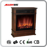 Wholesale Wooden Infrared Space cheap Electric Fireplace Heater with ETL Certification from Allen