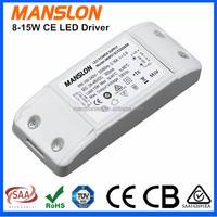 CE approved (8-12)x1w constant current 240mA 300mA 500mA led bulb driver 8-15W power supply switching
