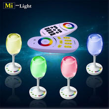 2.4g rf LED rgbw color changing usb recharge portable led light bulb,smart table lamp light