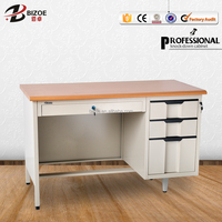 Factory direct steel office furniture knock down structure computer desk