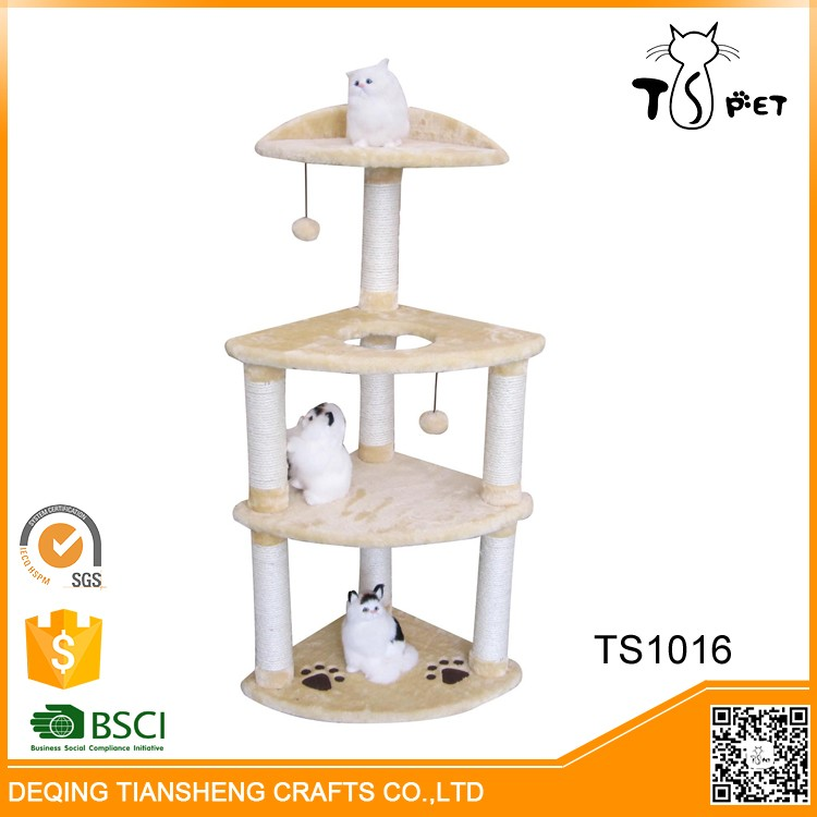 New Style Fashion Design Cat Climbing Frame Wooden Cat Toy