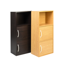 New design bookcase plywood bookcase 3 layers wood bookshelf