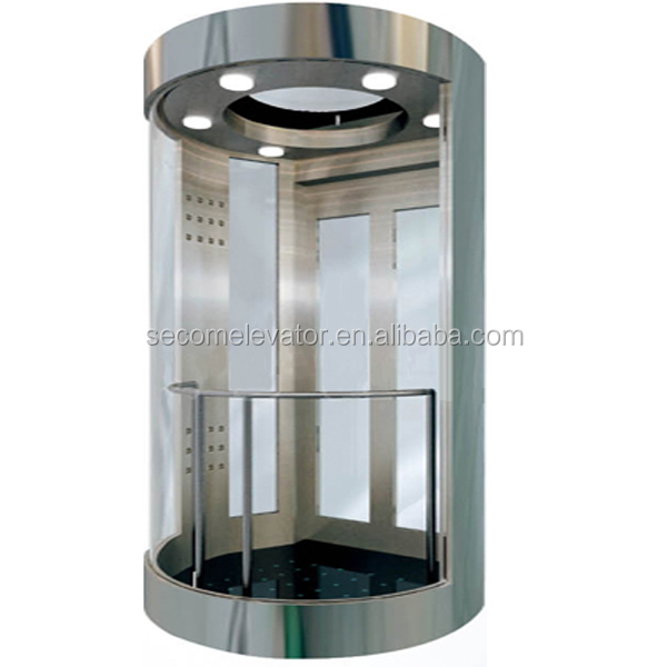 Glass Panoramic elevator indoor/outdoor sightseeing/observation left Chinese manufacturer supply