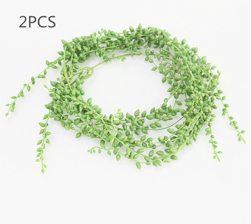 Flone 3 Branch Simulation Succulents Lover Tears Green Rattan Wall Hangings Artificial Plant Home Home Party Leisure Decor (7)