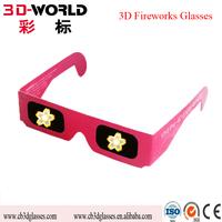 Wholesale promotion 3D fireworks plastic diffraction glasses