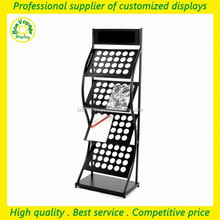professional floor stand metal flyer display stand for exhibition