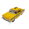 New 1:40 Scale Car Toys 1957 Bel Air Taxi Diecast Metal Pull Back Car Model Toy For Gift/Kids/Collection