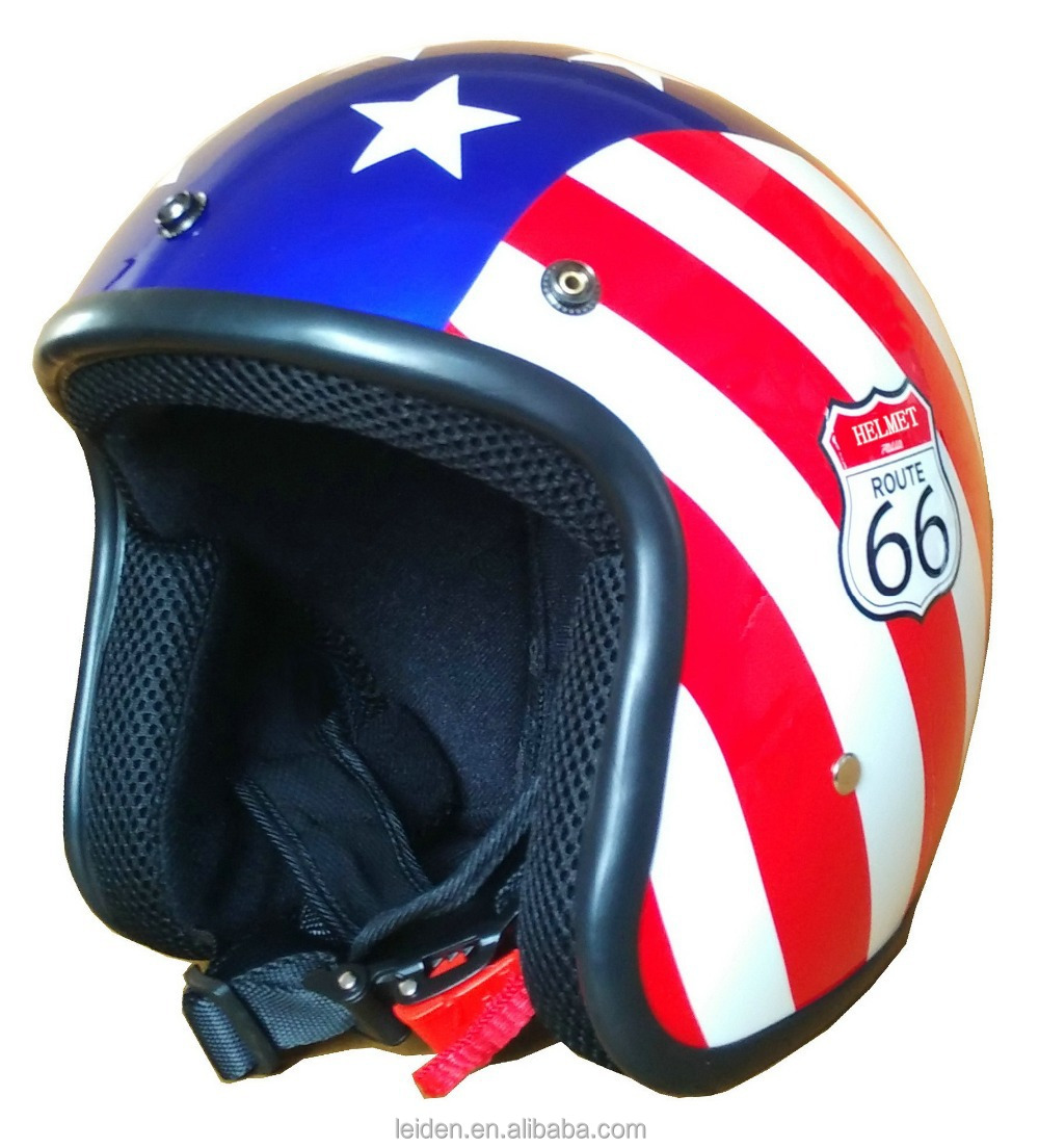 novelty star motorcycle helmets open face helmet retro gloss UV curable fit with visor