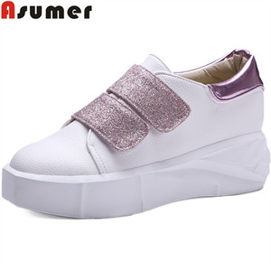 Asumer DX-2959982 fashion women autumn sweet comfortable large size round toe flats shoes