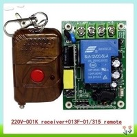 315Mhz/433Mhz 220v 1CH remote controller/single channel remote swtich/ 220v control switch