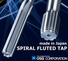OSG Spiral Fluted Short, Standard, Long Shank Tap are available
