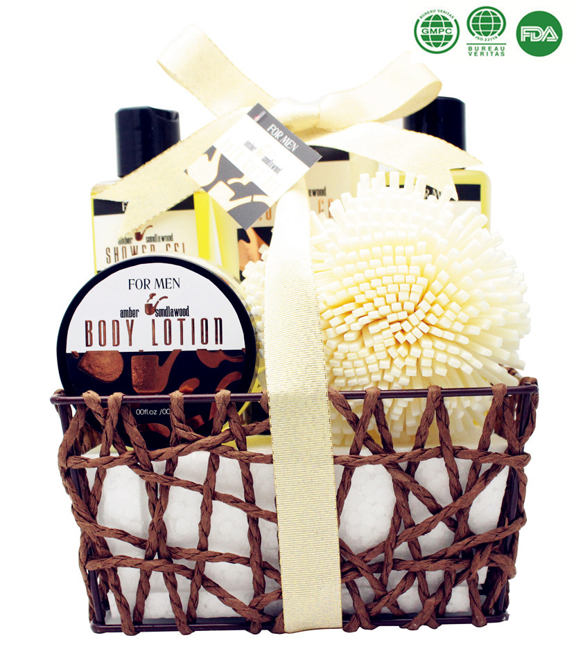 6PCS Melon Natural Spa and Skin care product in cloth basket in Wooden Box