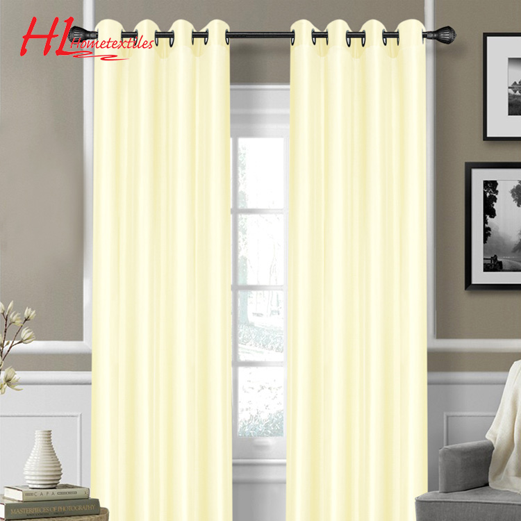 Chinese manufacturer fancy faux silk blackout window curtain