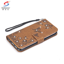 Leather flip wallet phone case for samsung galaxy s6 s6 edge s7 s7 edge s8 s8plus