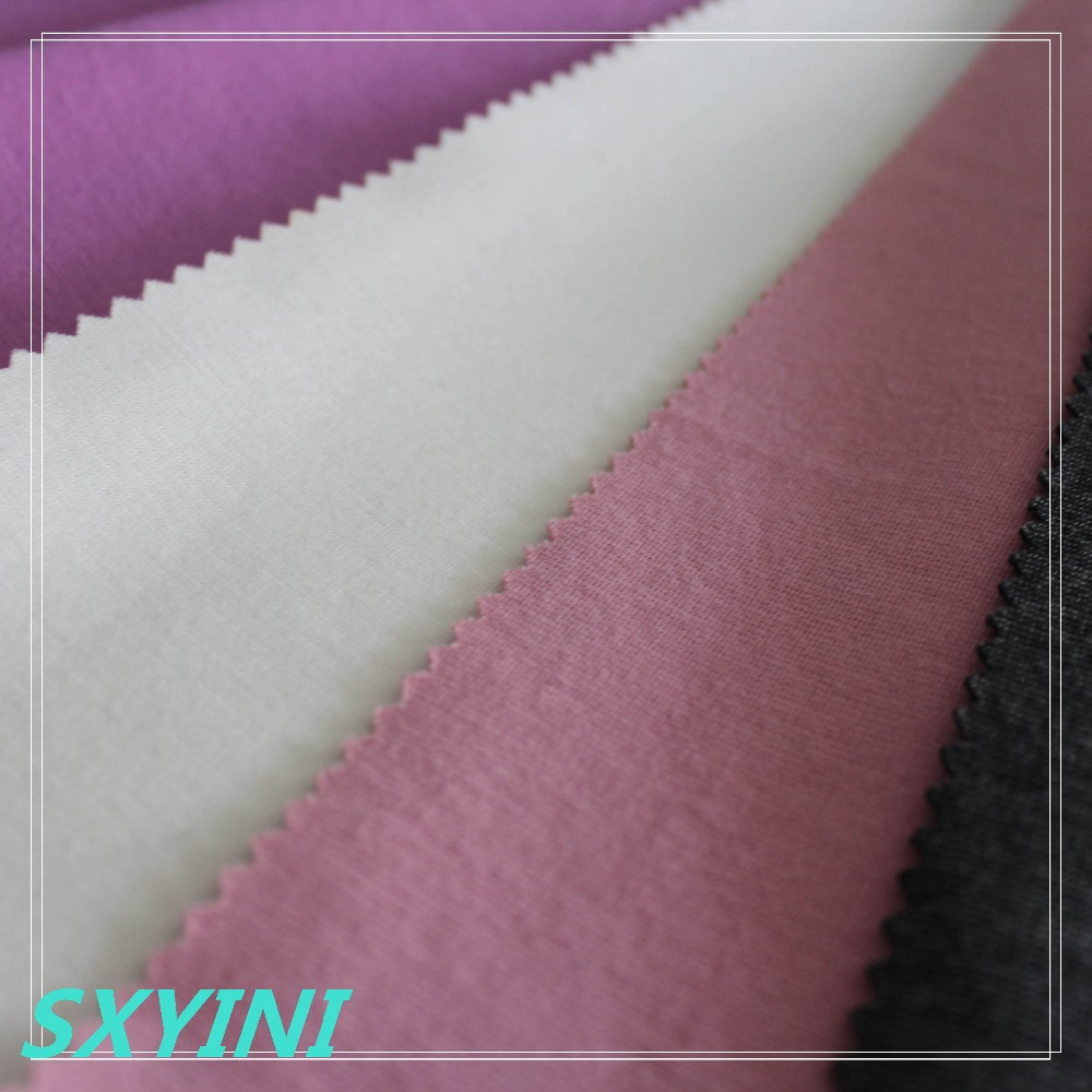 shaoxingYINI TR Knitted spandex ponte roma fabric for ladies dress