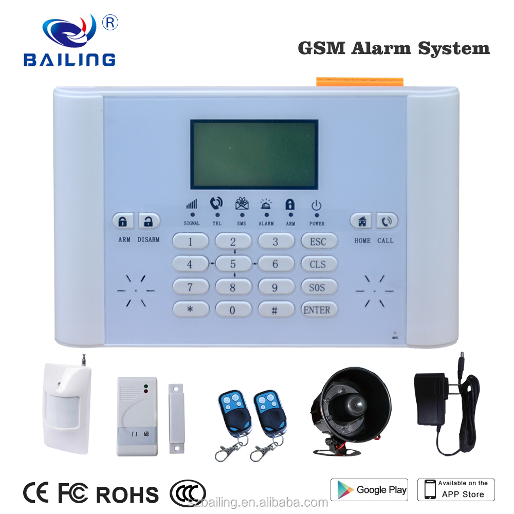 Support software alarm center home/office/hotel GSM alarm system with z-wave samrt switch socket personal alarm