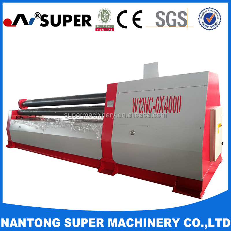 W12-8*1500 Four Roller Sheet Metal Plate Hydraulic Roll Bending Machine