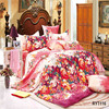 100% cotton bedding set/pigment printed bed sheet/6 piece comforter set