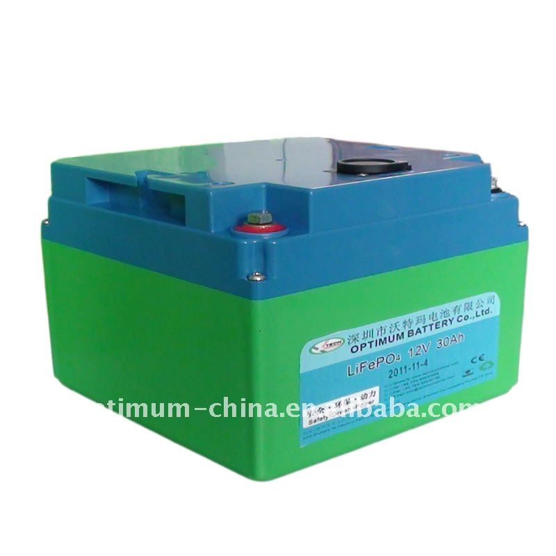 High power starting battery for ev/motorcycle/e-car 12V 30AH