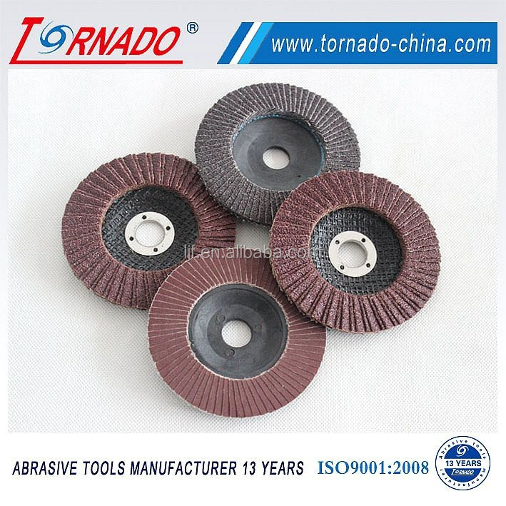 Tornado 125x22mm G60 Flap Disc With Plastic Fiber Backing For Metal Polishing
