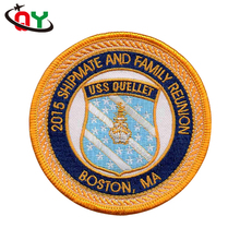 2017 fashion OEM design embroidered woven patch indian personality badge patches custom embroidery patch for clothing no minimum