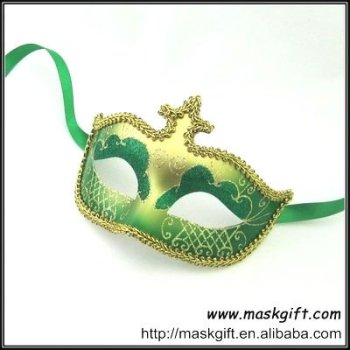 2012 hot seller green and gold venetian style carnival masks for