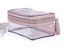 Travel Transparent PVC Cosmetic Bags Waterproof Travel Essential Clear Toiletry Wash Bags Organizer Makeup Case for Girls