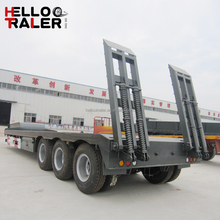 Famous Brand Tri-axle Lowbed Trailer In Truck Semi Trailer