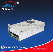 LEYU 350W 12v 24v Rainproof led driver CE RoHS FS-350 single output power supply