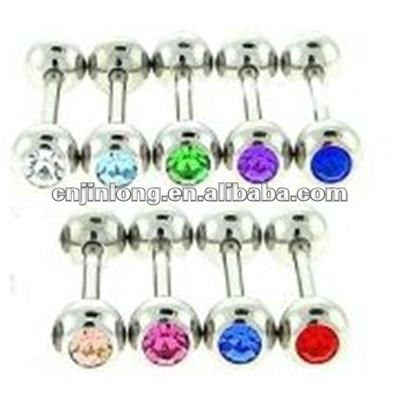 Diamond Stainsteel Steel Tongue Rings