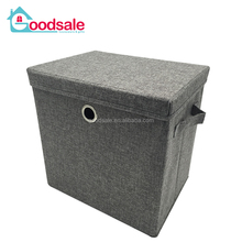 Bedroom closet foldable storage bins collapsible decorative cardboard drawer storage box with lids