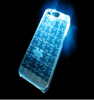 High quality Call Incoming flash LED clear Mobile Phone Cover for iPhone5/ Case with flash