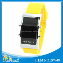 Mixed color smart led silicone set digital wrist watch