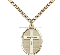 14K Gold Filled Cross Pendant Necklace New Designer Cheap Jewelry With Box Chain
