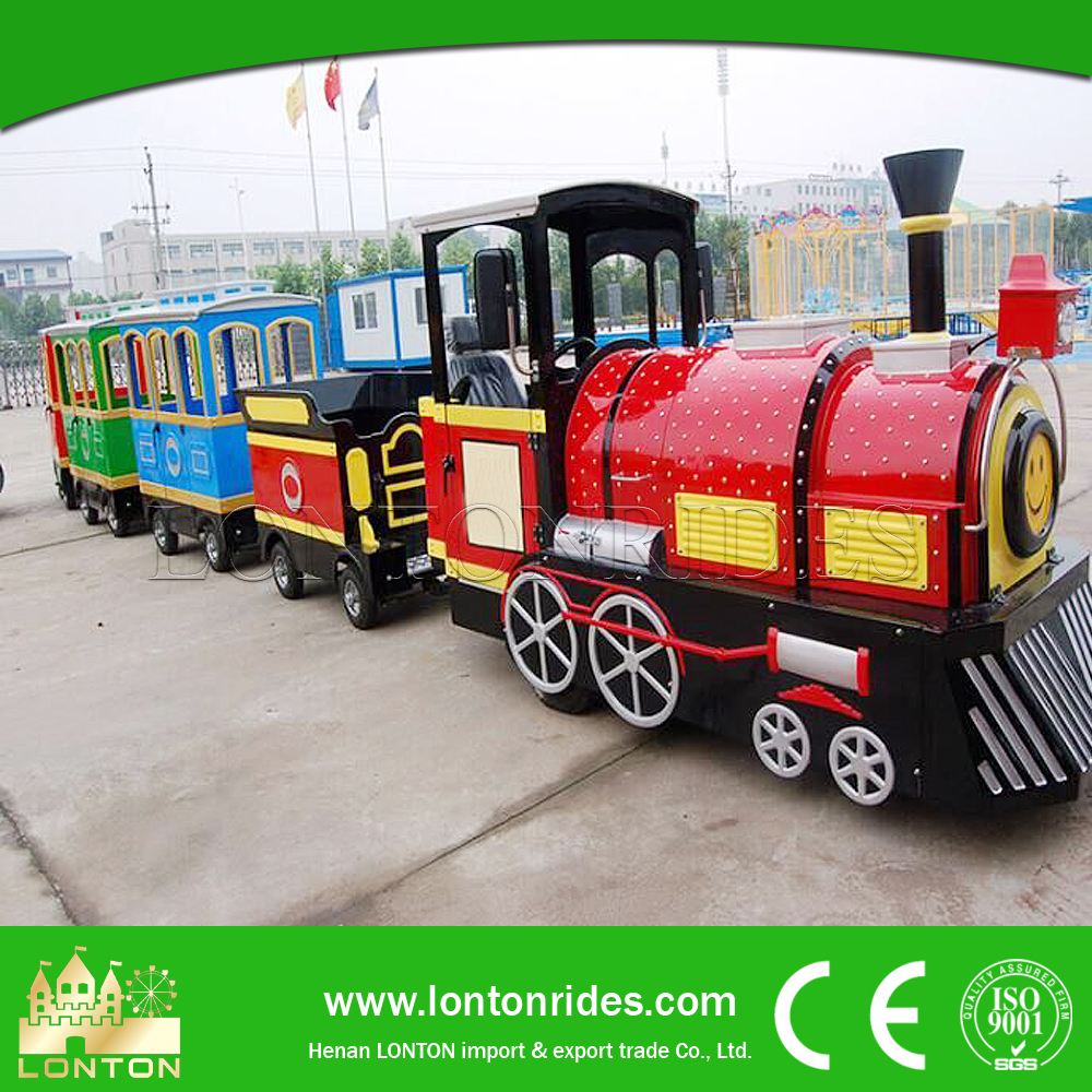 Amusement Kiddie Rides Electric Trackless Train Passenger Trains For Sale