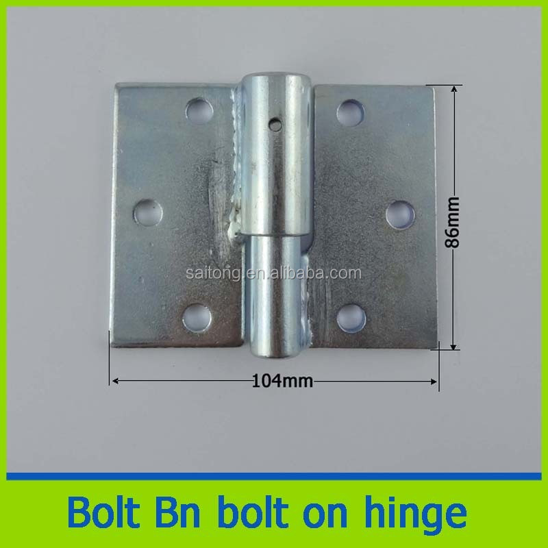 Steel tube prison zinc plated double side hinges