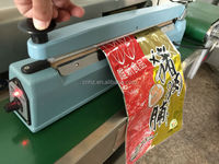 Hongzhan 4' 8' 12' 16' 20' aluminum/iron/plastic body portable manul plastic bag sealing hand impulse heat sealer