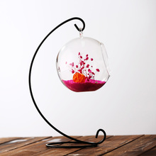 GLASS BALL CANDLE HOLDER/GLASS GLOBE 8cm