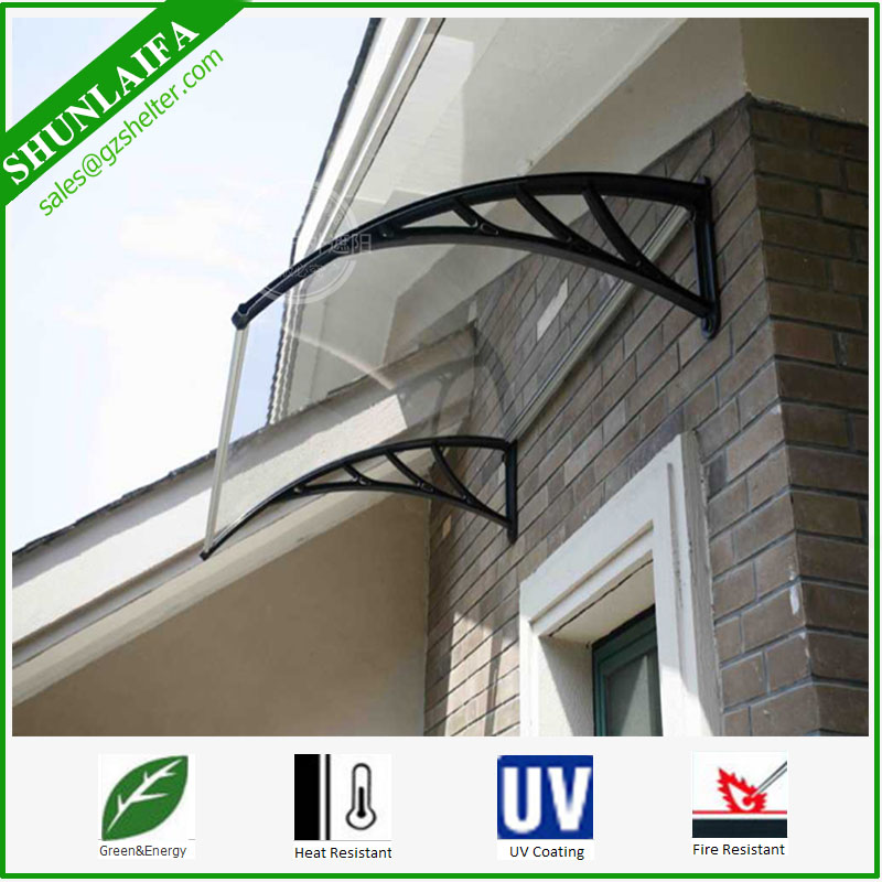 PC Awnings DIY Outdoor Awning Patio Polycarbonate PC Cover Canopy Window DoorAwning