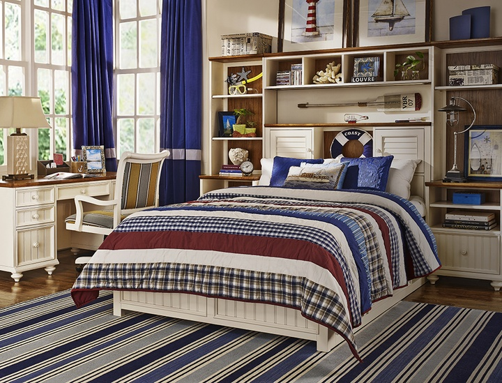 American Simple Style Wood Combination Furniture In Bedroom