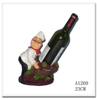 New Design Resin cute chef Shoes Wine Bottle Holders for bar, resin statue bar sign for restaurant