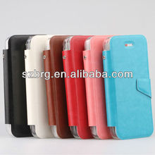 for iphone 5c back cover + leather protective Case with cards holder