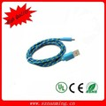 Fabric Braided Micro USB Charging Cord Data Sync