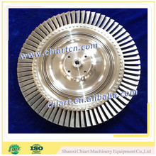 diesel engine turbocharger accessories turbine disc with blades