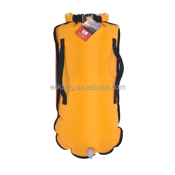 2015 Inflatable PVC swimming float dry bag open water swim buoy