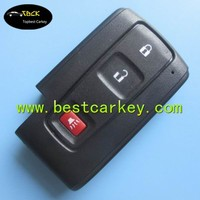 2+1 buttons smart car key shell car remote shell without emergency key blade no logo key prius